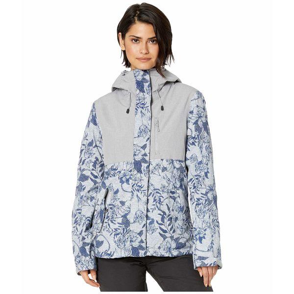 ロキシー レディース コート アウター Jetty 3-N-1 Snow Jacket Heather Grey Botanical Flowers
