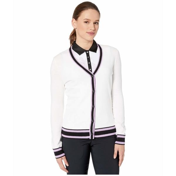 キャラウェイ レディース ニット&セーター アウター Coolmax Long Sleeve Cardigan Brilliant White