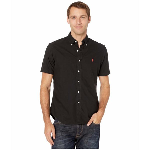 ラルフローレン メンズ シャツ トップス Short Sleeve GD Oxford - Classic Polo Black