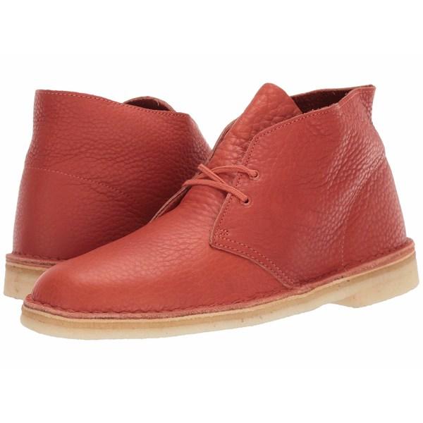 クラークス メンズ ブーツ&レインブーツ シューズ Desert Boot Burnt Orange Leather