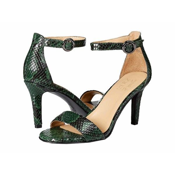 ナチュライザー レディース ヒール シューズ Kinsley Forest Green Snake Print Leather