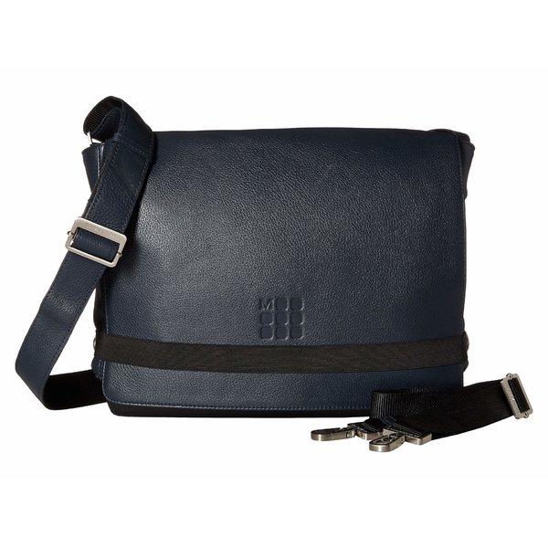モレスキン メンズ ショルダーバッグ バッグ Classic Leather Reporter Bag Sapphire Blue