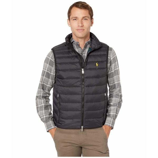 ラルフローレン メンズ コート アウター Packable Down Vest Polo Black