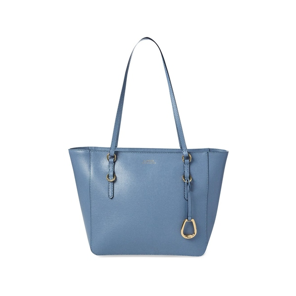 ラルフローレン レディース トートバッグ バッグ Medium Leather Shopper Blue