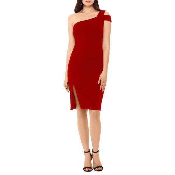 ベッツィ アンド アダム レディース ワンピース トップス One-Shoulder Sheath Dress Red