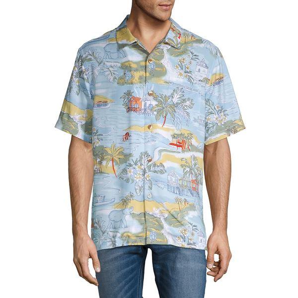 トッミーバハマ メンズ シャツ トップス Marina Beach Camp Shirt Robins Egg