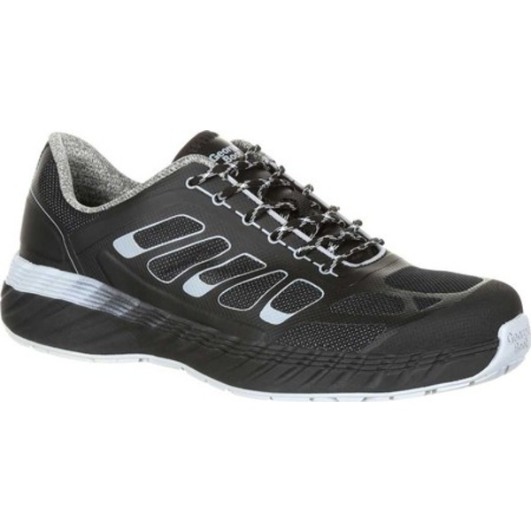 ジョージブーツ メンズ スニーカー シューズ GB00218 ReFLX Alloy Toe Work Athletic Shoe Black Grey Leather/Synthetic