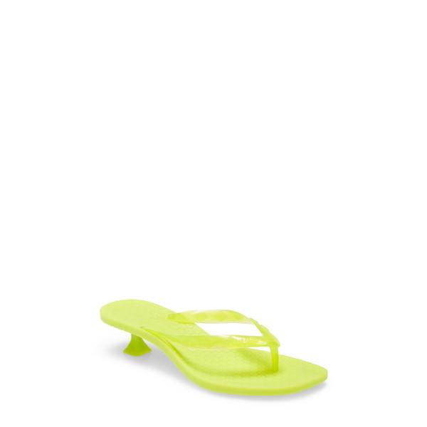シガーソン モリソン レディース サンダル シューズ Iconic Kitten Heel Flip Flop Lime Green