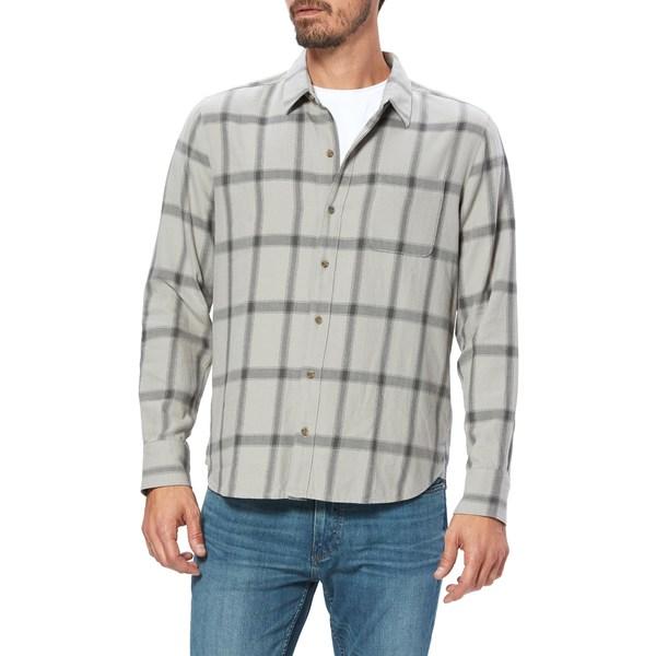ペイジ メンズ シャツ トップス Cooper Plaid Button-Up Shirt Aged Grey Lake