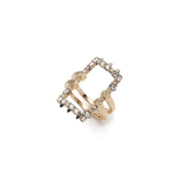 アレクシス ビッター レディース リング アクセサリー Elements Crystal Encrusted Ring Gold/ Ruthenium