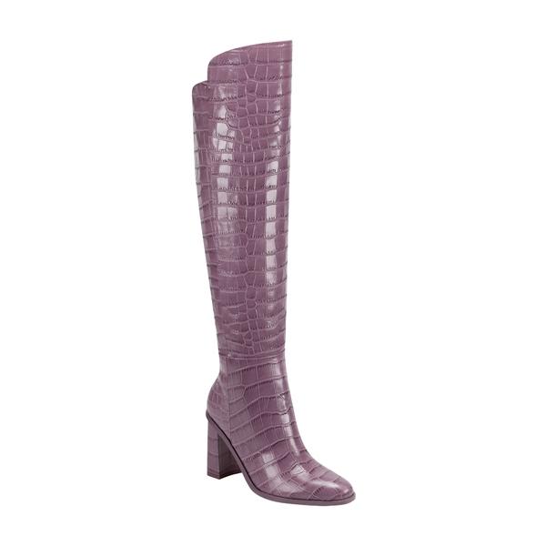 マーク・フィッシャー レディース ブーツ&レインブーツ シューズ Unella Knee High Boot Berry Croco Embossed Leather
