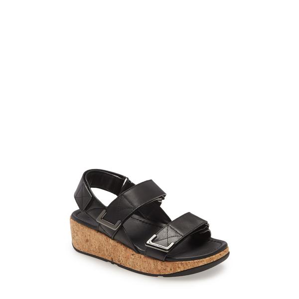 フィットフロップ レディース サンダル シューズ Remi Platform Wedge Sandal All Black Leather