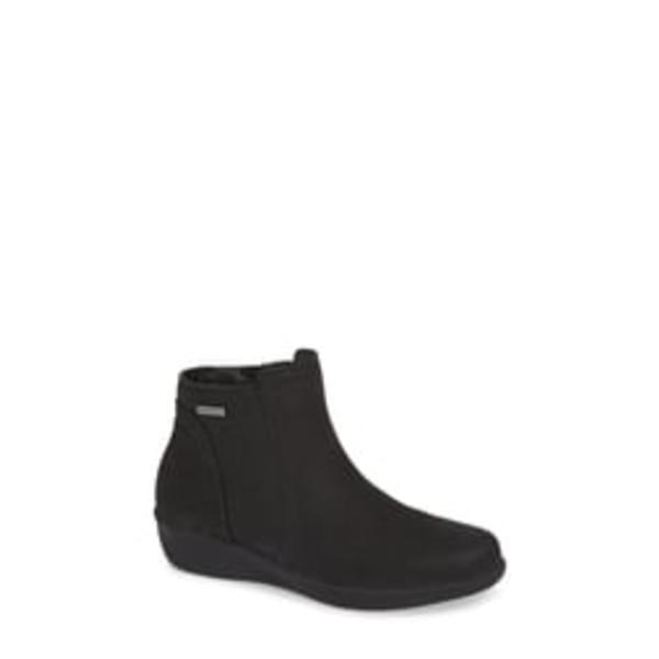 アラヴォン レディース ブーツ&レインブーツ シューズ Fairlee Wedge Bootie Black Leather