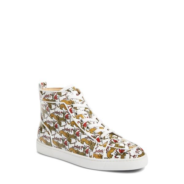 クリスチャン・ルブタン メンズ スニーカー シューズ Rantus High Top Sneaker White