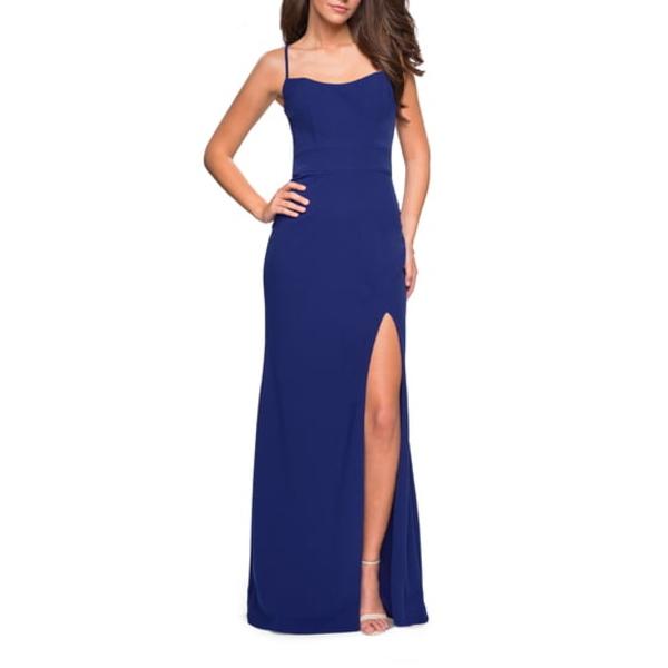 ラフェム レディース ワンピース トップス Strappy Back Jersey Column Dress Sapphire Blue