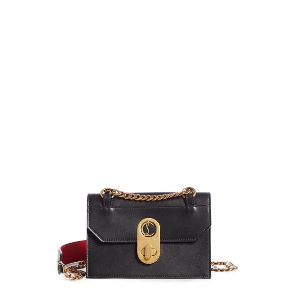 クリスチャン・ルブタン レディース ショルダーバッグ バッグ Small Elisa Calfskin Leather Shoulder Bag Black