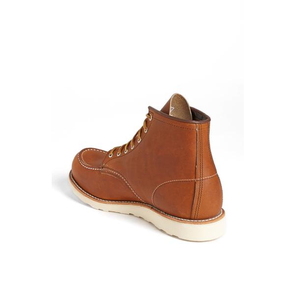レッドウィング メンズ ブーツ&レインブーツ シューズ 6 Inch Moc Toe Boot Brown- 875