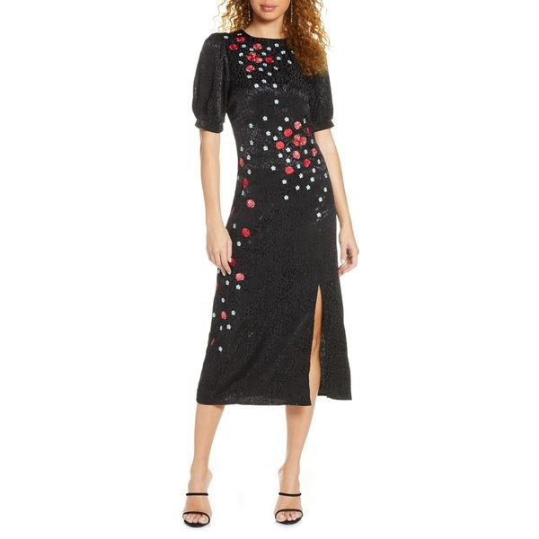フォキシィドックス レディース ワンピース トップス Blythe Embroidered Midi Dress Black Multi