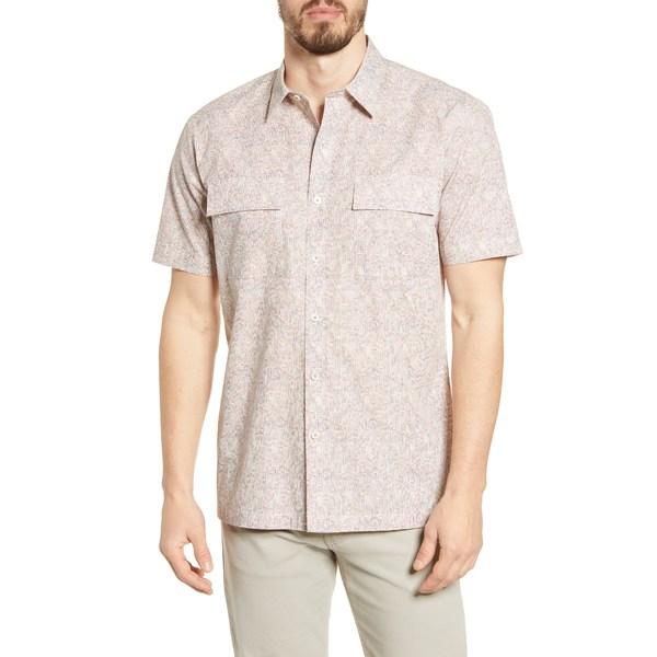 ブガッチ メンズ シャツ トップス Print Shaped Fit Button-Up Shirt Sand