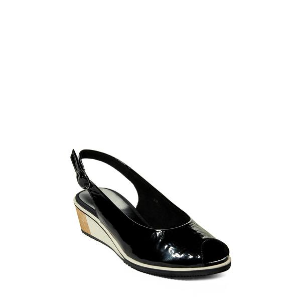 ベネリ レディース サンダル シューズ Baise Slingback Sandal Black Patent Leather