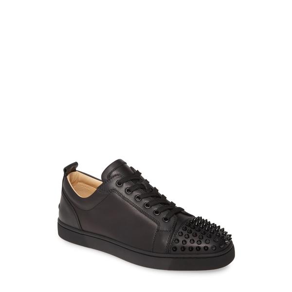 クリスチャン・ルブタン メンズ スニーカー シューズ Louis Junior Spikes Sneaker Black/ Black