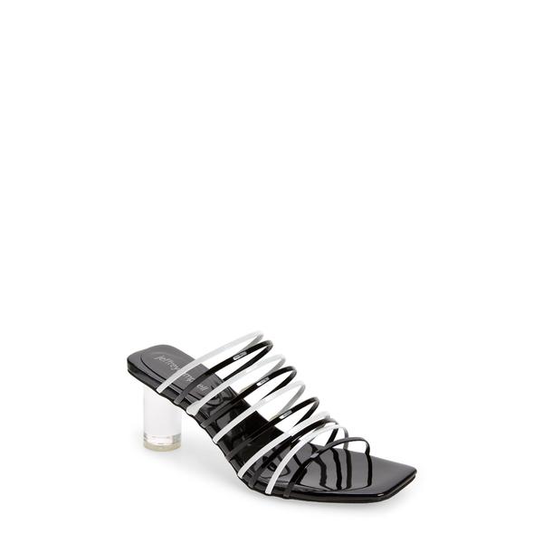 ジェフリー キャンベル レディース サンダル シューズ Bilateral Strappy Sandal Black White Patent Combo