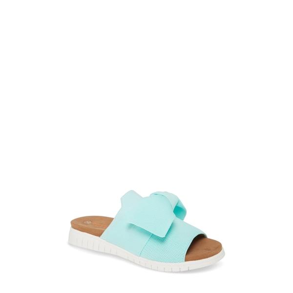 バーニーメブ レディース サンダル シューズ Freesia Slide Sandal Aqua Fabric