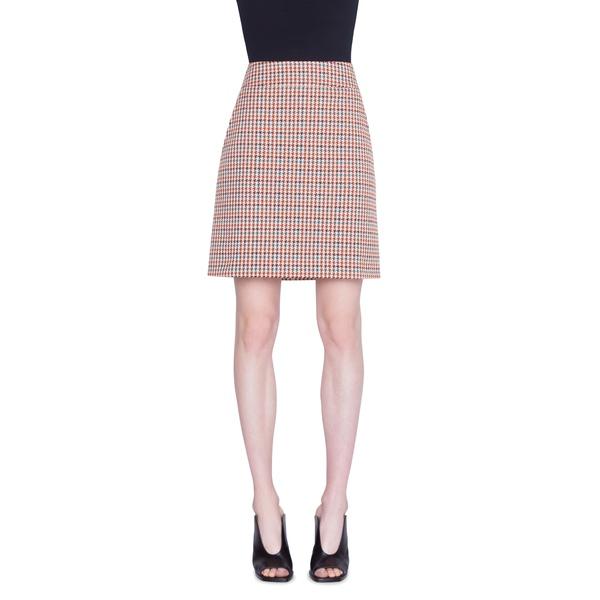 アクリス プント レディース スカート ボトムス Houndstooth Jacquard Cotton Blend Miniskirt Black Multicolor