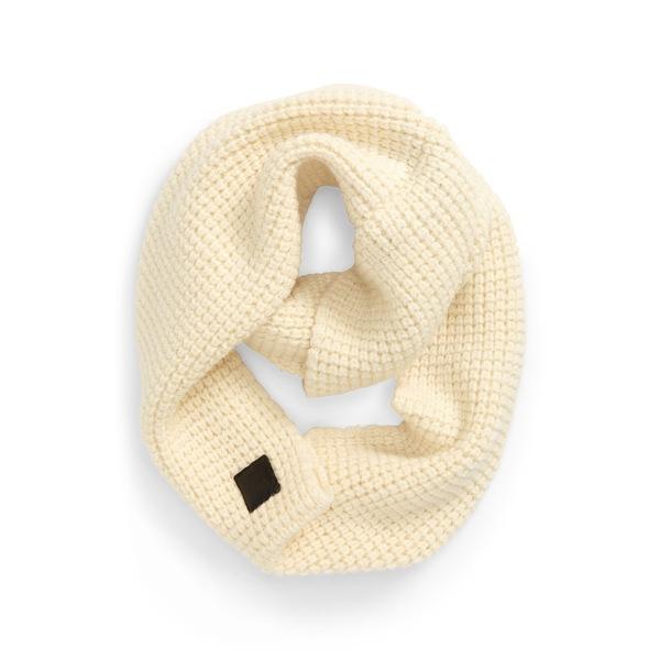 カナダグース レディース マフラー・ストール・スカーフ アクセサリー Waffle Stitch Wool Infinity Scarf Ivory