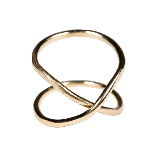 ナシェル レディース リング アクセサリー Hourglass Ring Gold