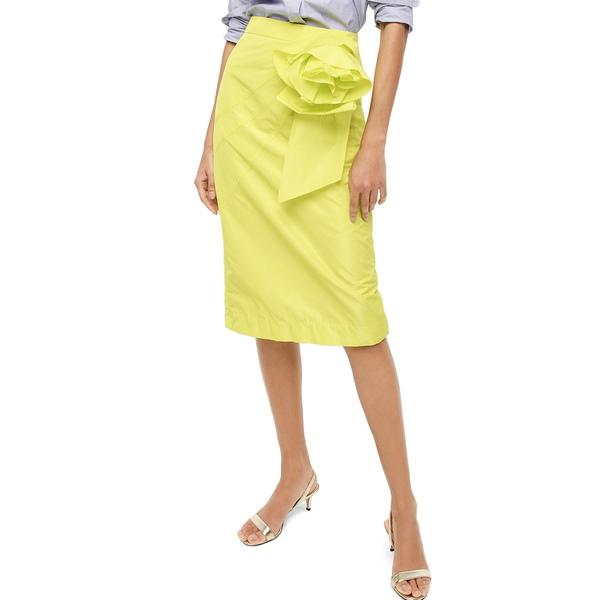 ジェイクルー レディース スカート ボトムス Taffeta Rosette Pencil Skirt Bright Kiwi