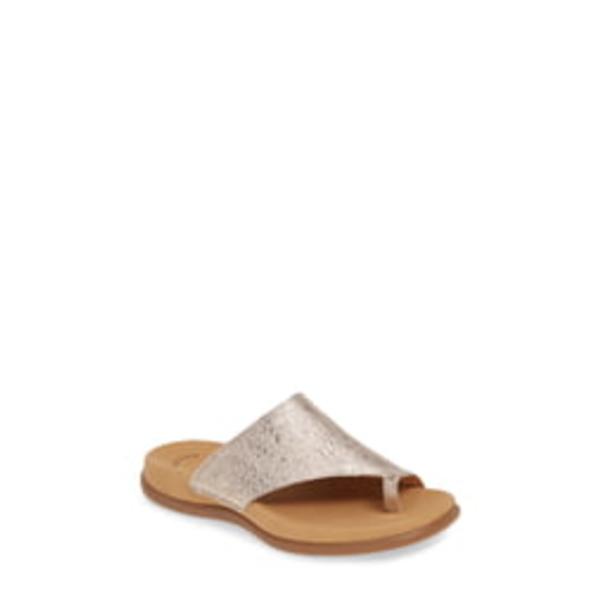 ガボール レディース サンダル シューズ Slide Sandal Grey Metallic Leather