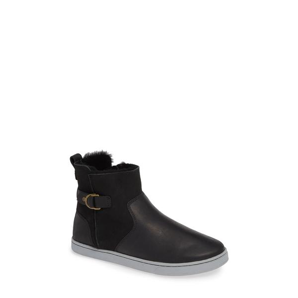 オルカイ レディース スニーカー シューズ Pehuea Pa'I Genuine Shearling Sneaker Boot Black/ Black Leather