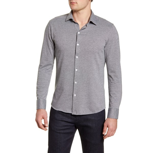 ロバートバラケット メンズ シャツ トップス Michigan Solid Button-Up Shirt Grey