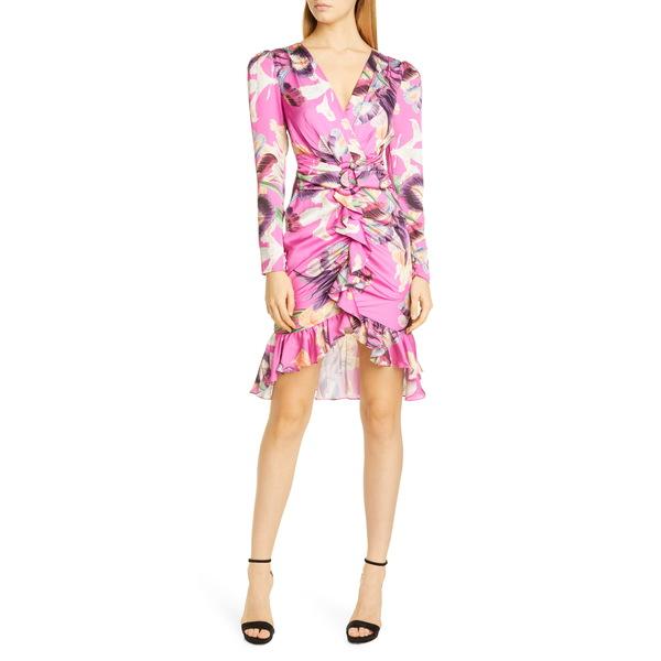 パットボー レディース ワンピース トップス Grace Long Sleeve Cocktail Dress Fuchsia