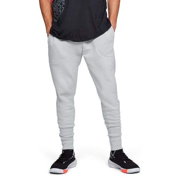 アンダーアーマー メンズ カジュアルパンツ ボトムス Baseline Fleece Joggers Mod Grey/Black