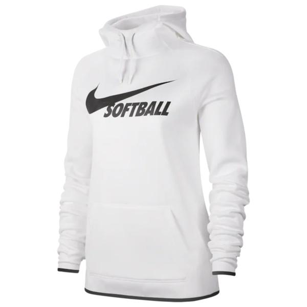 ナイキ レディース フィットネス スポーツ Softball Therma Hoodie White/Black/Black
