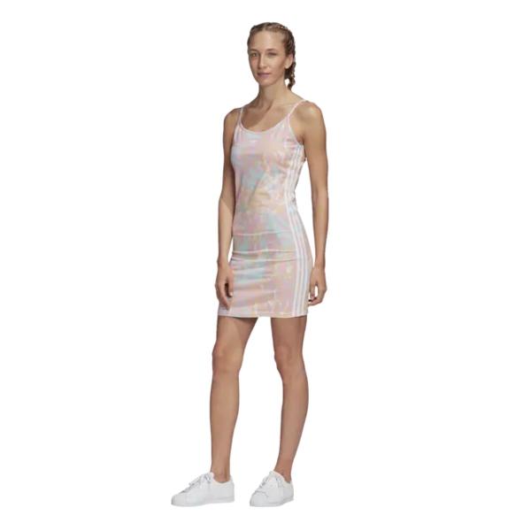 アディダスオリジナルス レディース ワンピース トップス Adicolor Tank Dress White/True Pinks/Vapour Blue