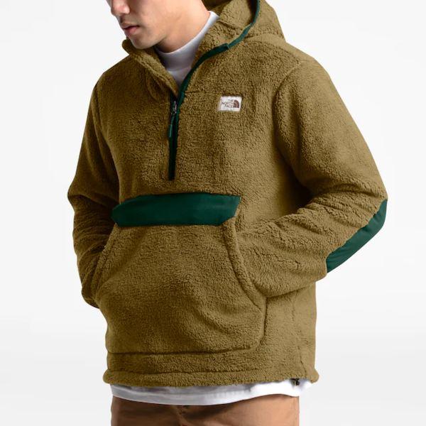 ノースフェイス メンズ フィットネス スポーツ Campshire Sherpa Pullover British Khaki/Night Green | Past Season Product