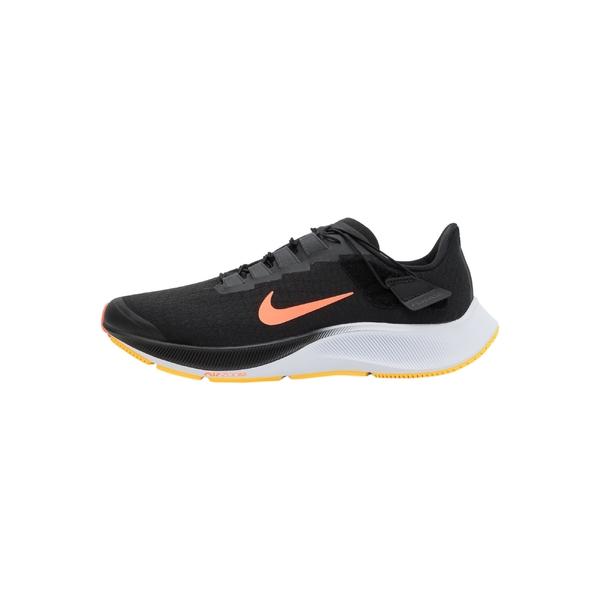 ナイキ メンズ ランニング スポーツ AIR ZOOM PEGASUS 37 FLYEASE - Neutral running shoes - black/bright mango/anthracite/white/citron pulse mygp025d