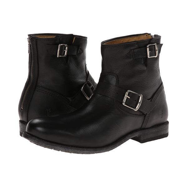 フライ メンズ ブーツ&レインブーツ シューズ Tyler Engineer Black/Soft Vintage Leather