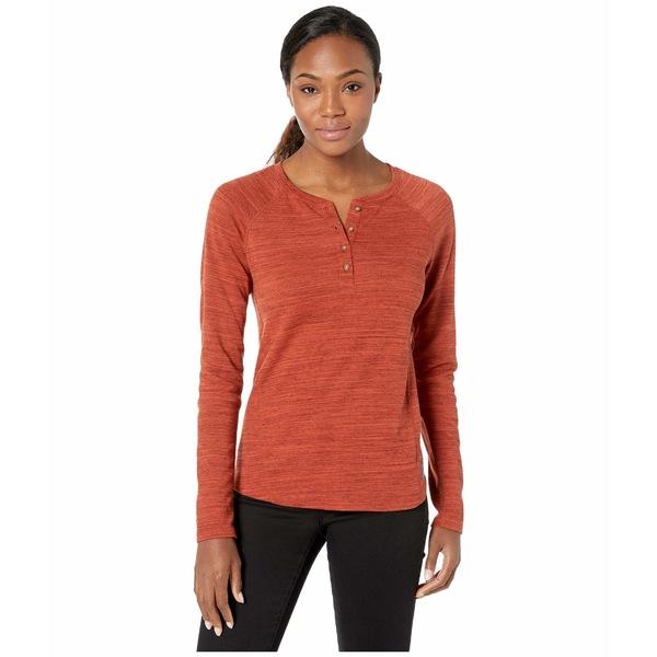 エクスオフィシオ レディース シャツ トップス BugsAway Novais Henley Long Sleeve Shirt Rust Heather