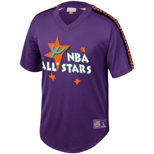 ミッチェル&ネス メンズ シャツ トップス NBA Mitchell & Ness 2019 All Star Game Mesh VNeck Shirt Royal