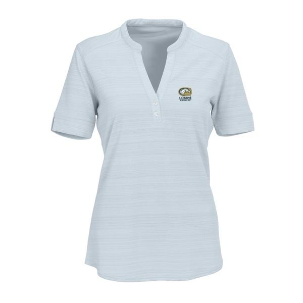 ビンテージアパレル レディース シャツ トップス UC Davis Aggies Women's Strata Textured Henley Shirt Silver