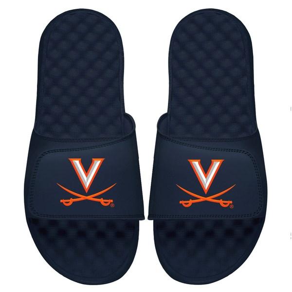 アイスライド メンズ サンダル シューズ Virginia Cavaliers ISlide Primary Logo Slide Sandals Navy