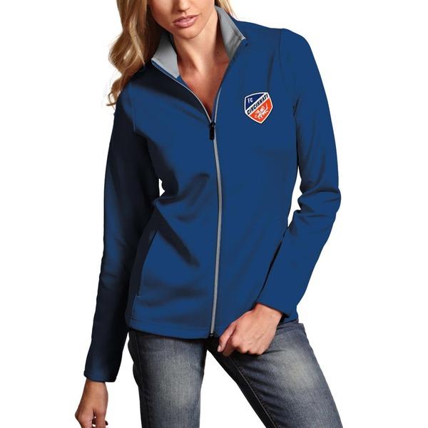 アンティグア レディース ジャケット&ブルゾン アウター FC Cincinnati Antigua Women's FullZip Leader Jacket Royal