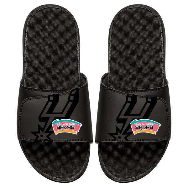 アイスライド メンズ サンダル シューズ San Antonio Spurs ISlide Tonal Pop Slide Sandals Black
