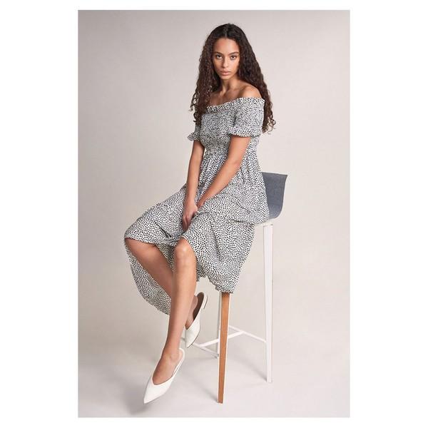 サルサジーンズ レディース トップス ワンピース White 全商品無料サイズ交換 売買 naqr0155 Salsa Print With jeans 最新 Cai