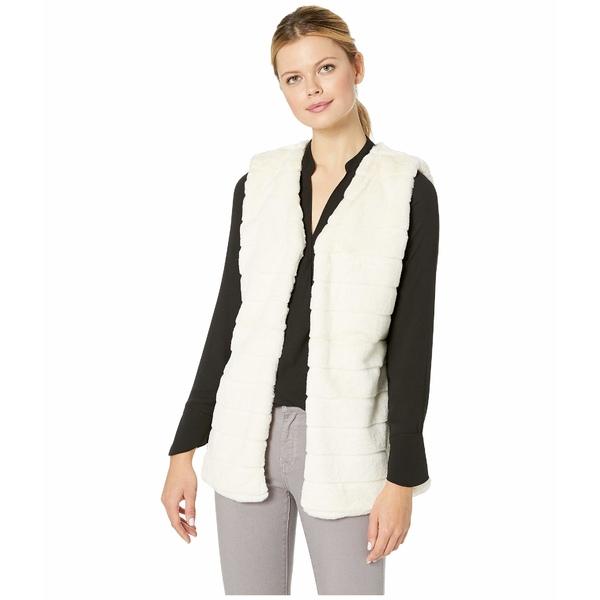 エコーデザイン レディース コート アウター Faux Fur Vest Echo Ivory