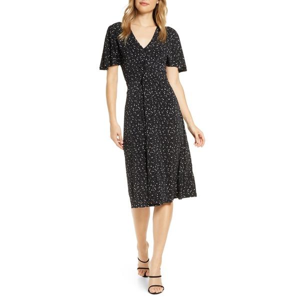 レオタ レディース ワンピース トップス Leota Betty Flutter Sleeve Jersey Dress Starry Night